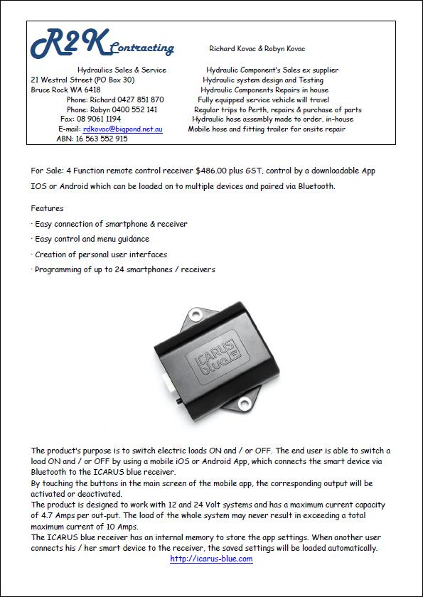 Icarus Remote Sales promotions